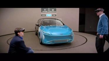 Diseño de coche de ford con realidad virtual