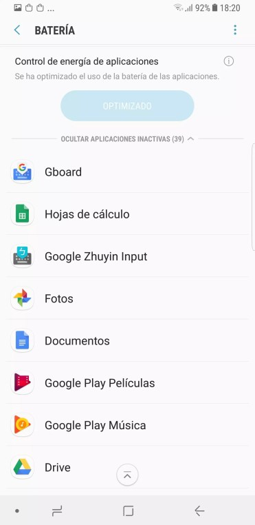 Lista apps Samsung Galaxy Note 8
