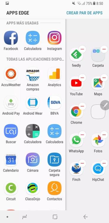 Seleccion Edge Samsung Galaxy Note 8