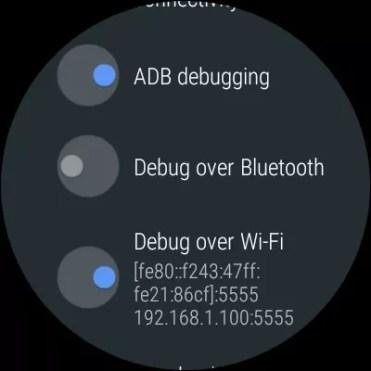 Opciones ADB en Android Wear