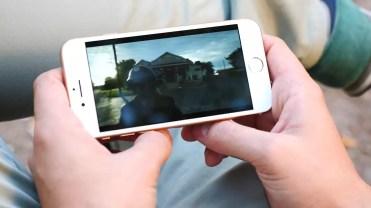 Pantalla integrada en el iPhone 8