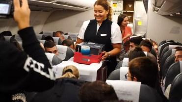 reparto Galaxy Note 8 en el vuelo de Iberia