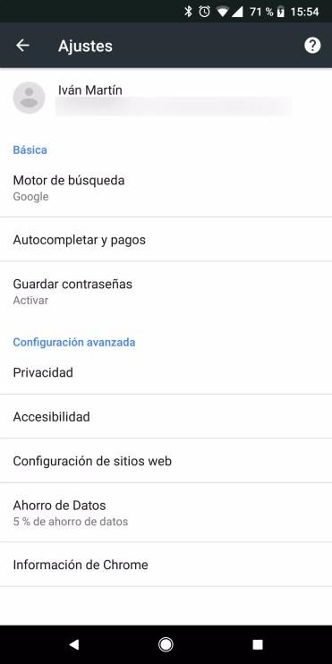 Contraseñas Chrome para Android