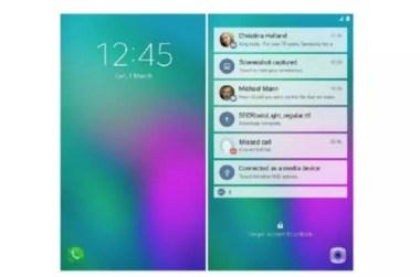 Aspecto interfaz teléfono plegable Samsung