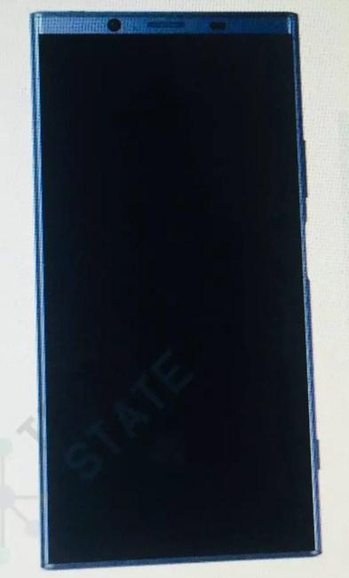 Imagen frontal sucesor Sony Xperia XZ1