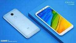 Xiaomi Redmi 5Plus con fondo azul