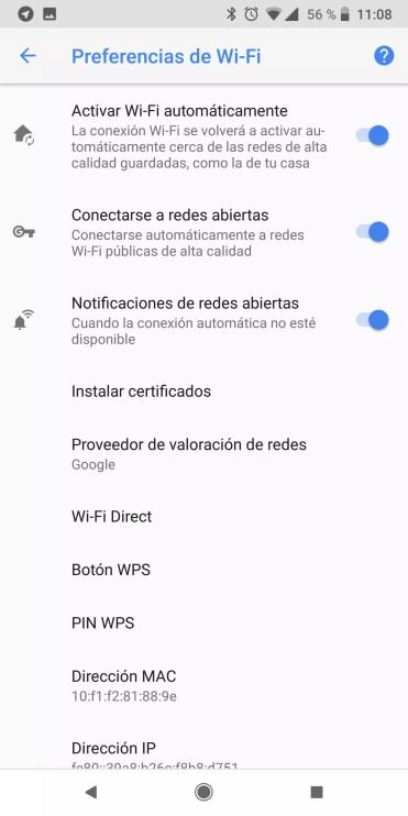 Ajustes avanzados en Android Oreo