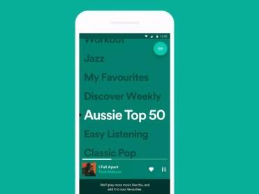 Interfaz de Stations de Spotify