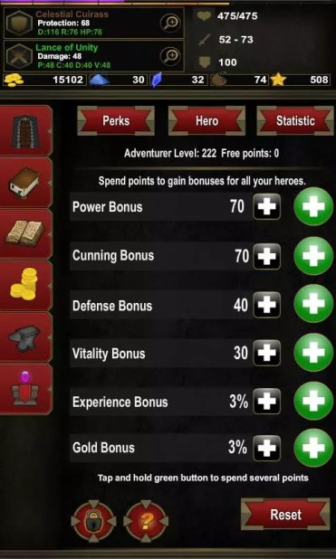 Juego Android Dungeon Adventure: Heroic Ed