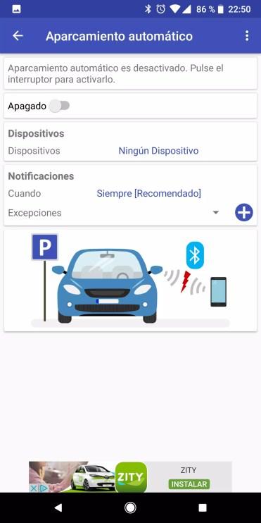 Uso de Bluetooth en ParKing para recordar siempre dónde has aparcado