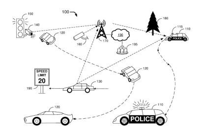 patente de uso del coche de policía autónomo de ford