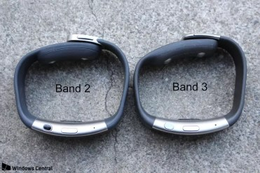 Diseño comparado Microsoft Band 3