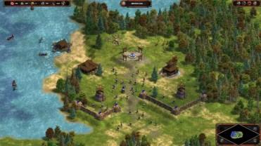 Poblado en el juego Age of Empires Definitive Edition