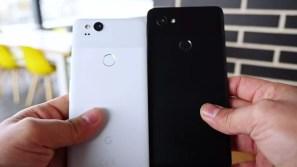 Google Pixel 2 comparado con el Pixel 2 XL