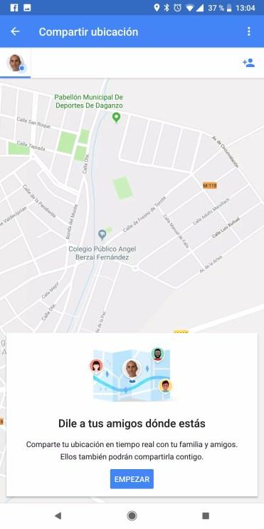 Compartir ubicación con Google Maps