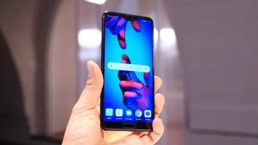 Imagen frontal del Huawei P20
