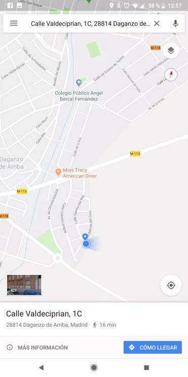 Punto localizacion Google Maps