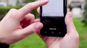 Samsung Galaxy S9 en uso