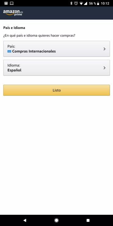 Seleccionar compras con Amazon International Shopping