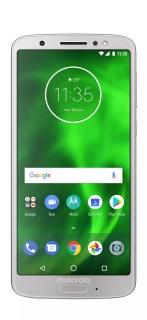 Imagen frontaldel Motorola Moto G6