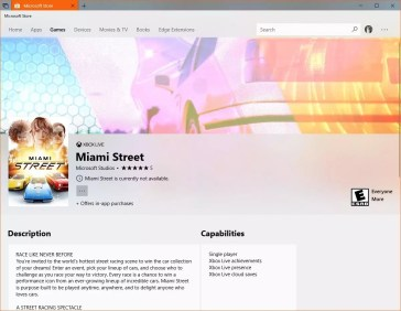 Juego Miami Street para Windows 10