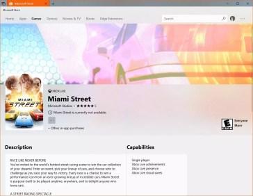 Juego Miami Street para Windows 10