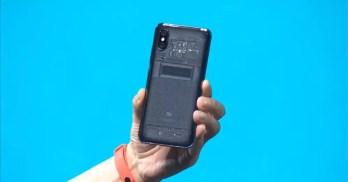 Imagen tarasera del Xiaomi Mi 8 Explorer
