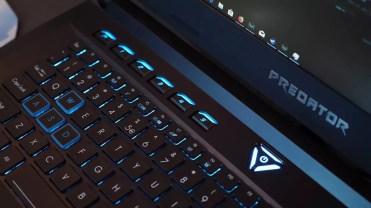 teclado portátil Acer gaming