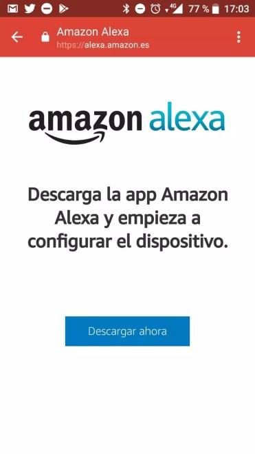 Descarga de aplicación Alexa