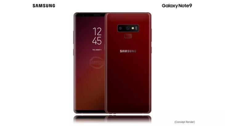 Render Samsung Galaxy Note 9