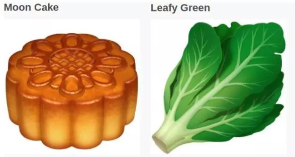 Alimentos nuevos emojis