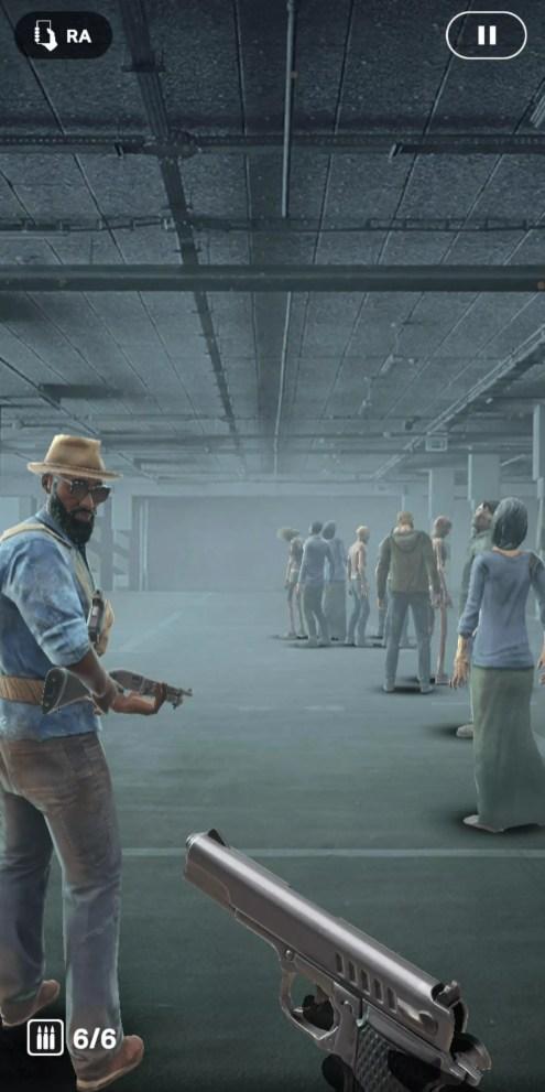 Combate en el juego The Walking Dead: Our World