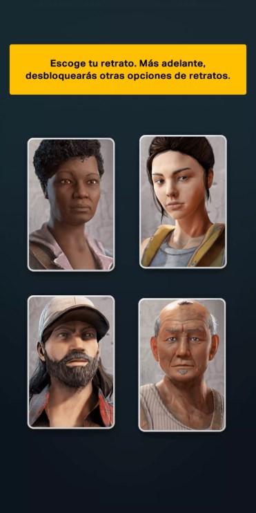 Elegir imagen de personaje en The Walking Dead: Our World
