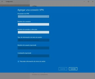 Utilizar VPN en Windows 10