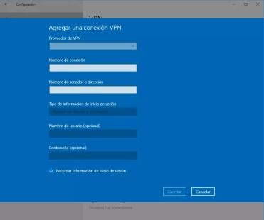 Utilizar VPN en Windows 10