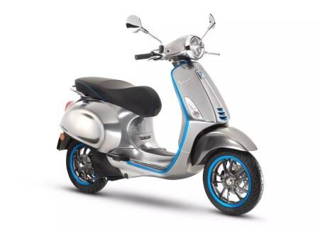 Diseño de la moto Vespa Elettrica