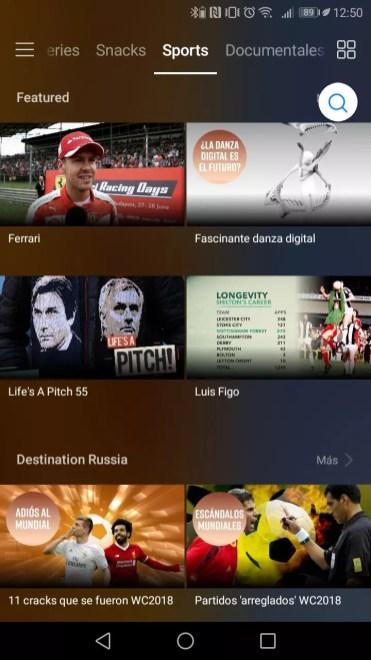 Listado de contenidos Huawei Video