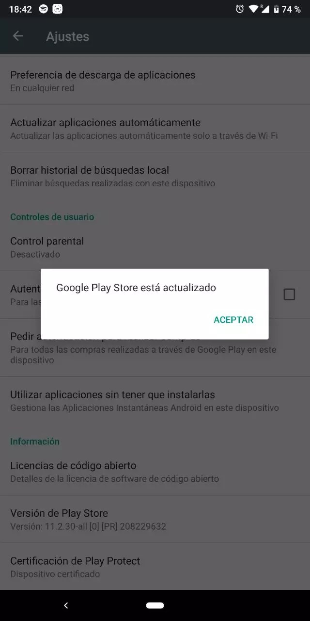 play store actualizar