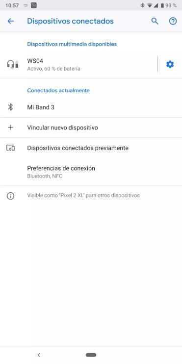 Conexión Bluetooth del Thomson WS04