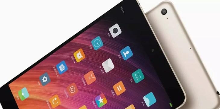 diseño de la Xiaomi Mi Pad 4 Plus