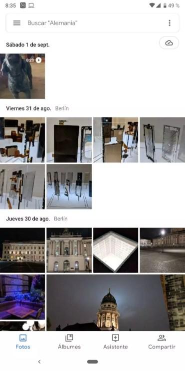 Nueva versión de la aplicación Google Fotos