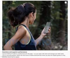 Imagen del notch del OnePlus 6T