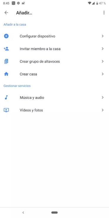 Añadir dispositivo en Google Home