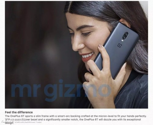 Imagen de la trasera del OnePlus 6T