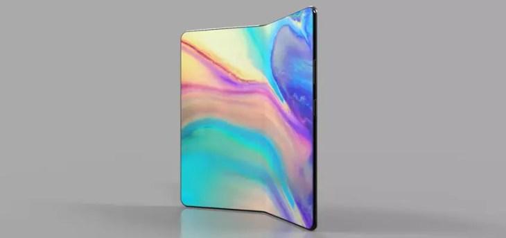 Posible diseño del teléfono plegable de Huawei