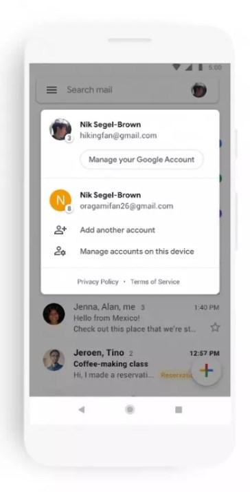 Contacto en el nuevo Gmail