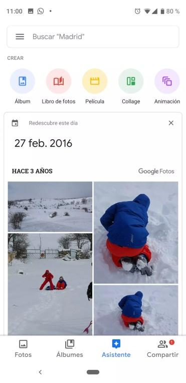 Crear animación en Google Fotos