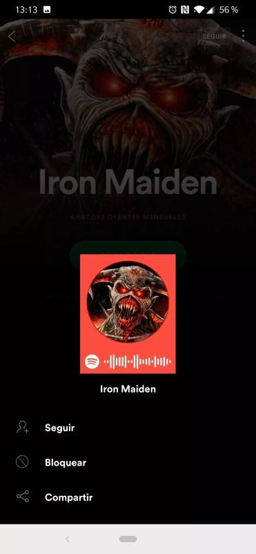 Radio de artista en Spotify