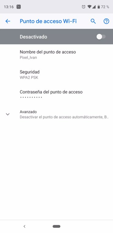 Datos compartir WiFi en Android para Chromecast