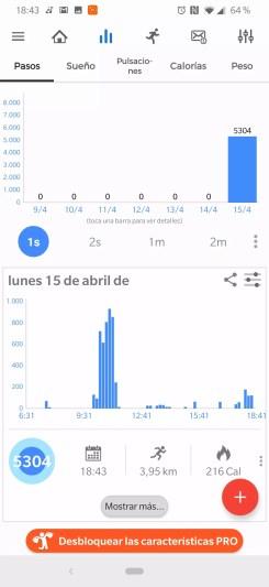 Datos en Notify & Fitness for Mi Band para Xiaomi Mi Band 3
